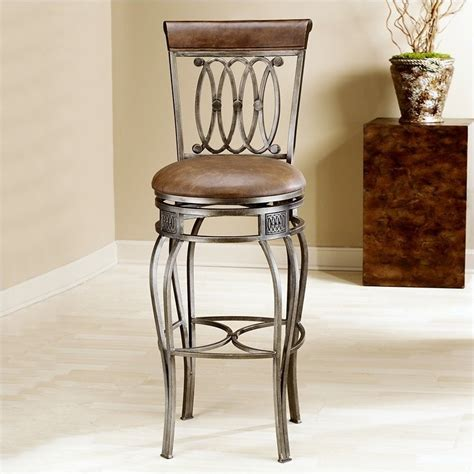32 Inch Bar Stool Hillsdale Montello 32 Quot Swivel Bar Stool In Steel 41545h