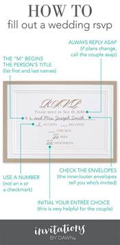 how to fill out rsvp card for wedding fill out a wedding rsvp invitations by