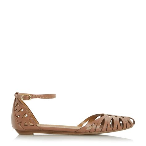sandals closed toe dune haidyn closed toe hurrache sandals in brown lyst
