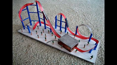How To Make Paper Roller Coaster - paper model of a roller coaster