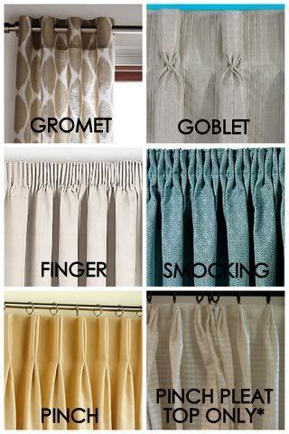 types of curtain tops 10 best ideas about types of blinds on pinterest types