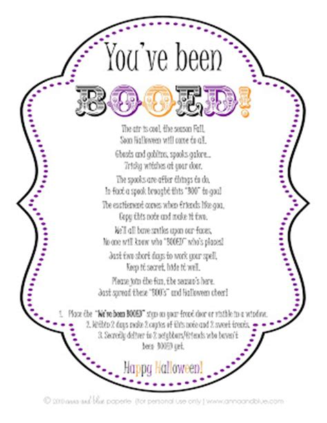 printable boo directions olive knolls mops time to boo your neighbors