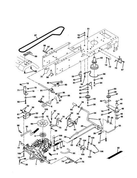 craftsman lawn tractor parts diagram drive diagram parts list for model 917252531 craftsman