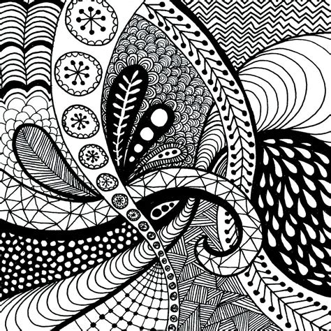 Drawing Zentangle by Pics For Gt Easy Zentangle