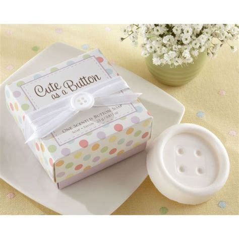 Cute Giveaways - cute as a button soap baby shower favors paperstyle
