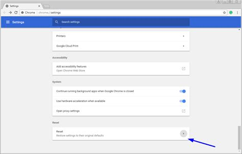 reset chrome online how to reset the chrome browser to its default settings