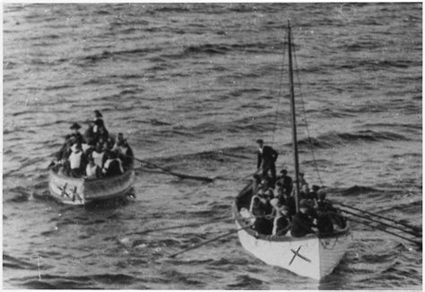titanic boat survivors file photograph of two lifeboats carying titanic survivors