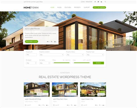real estate wordpress themes 2017 free premium templates