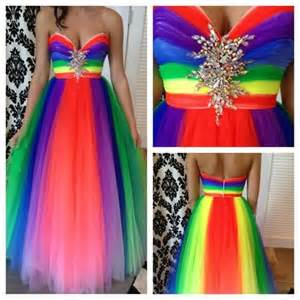 homecoming colors rainbow prom dress pretty rainbows other