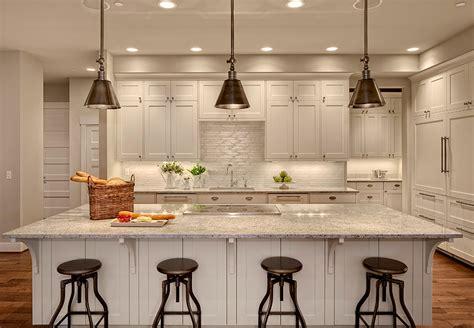 Studio 212 Interiors by Kashmir White Granite Transitional Kitchen Benjamin