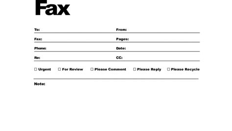 Free Fax Cover Letter Templates – fax cover letter doc template