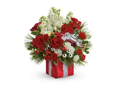 christmas floral arrangements from teleflora brighten up