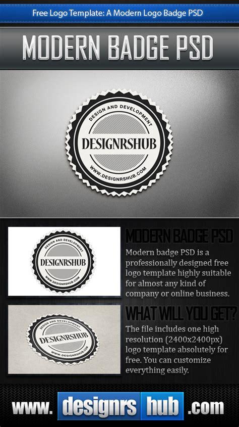 Free Logo Template A Modern Logo Badge Psd Company Badge Template