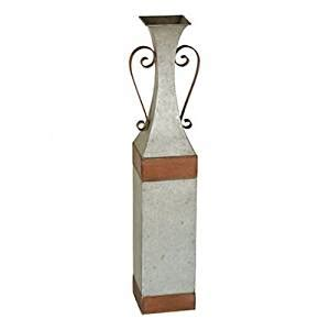 Galvanized Metal Vase by Galvanized Metal Floor Vase