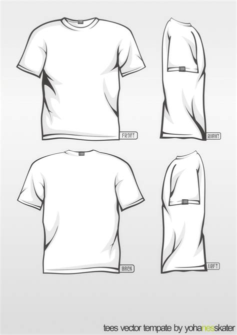 Tee Template Vector Color Changeable By Elegiyohanes On Deviantart Concert T Shirt Template