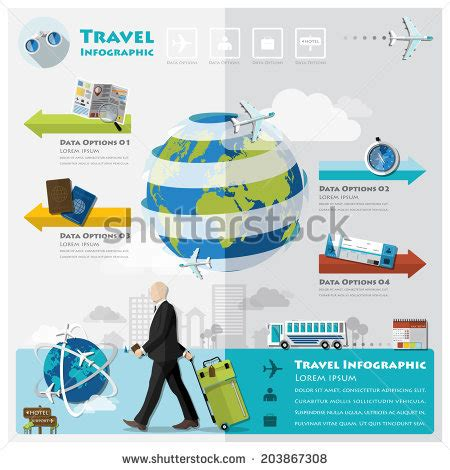 Travel Journey Business Infographic Design Template Stock Vector 203867308 Shutterstock Travel Infographic Template