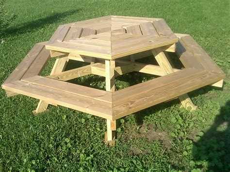 round wooden picnic bench round wooden picnic tables