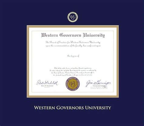 Western Governor Mba Accreditation by Custom Diploma Frames Certificate Frames Framing