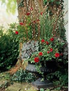 Plant Combination Ideas For Container Gardens You Can Always Enhance Your Container Plants With Dried Foliage Here Willows Make The
