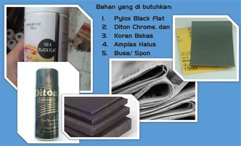 Pilox Hitam Black cara mengecat efek weathering metal atau besi lecet