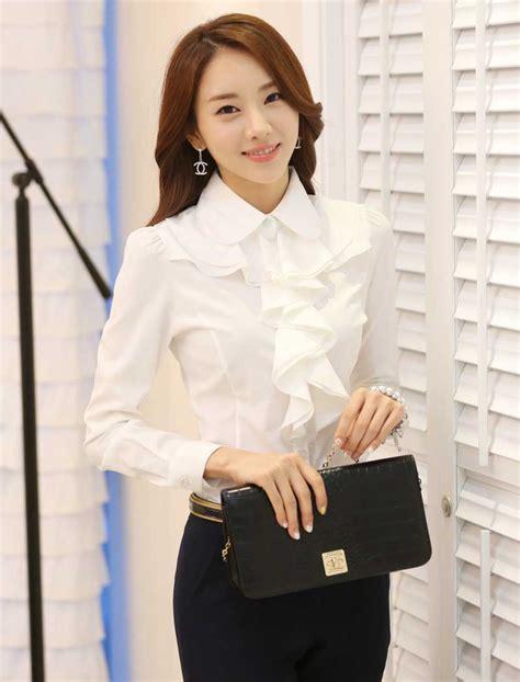 Zp Keyla Putih Blouse Wanita blouse putih import modern model terbaru jual murah import kerja