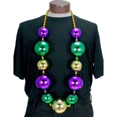 mardi gras rubber sts big balls necklace mardigrasoutlet