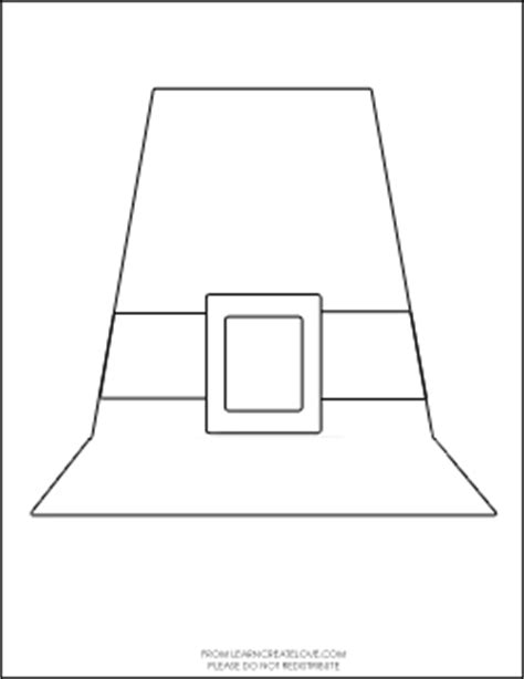 pilgrim hat printable template pilgrim hat craft