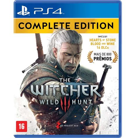Kaset Ps4 The Witcher 3 Hunt Complete Edition Jogo The Witcher 3 Hunt Complete Edition Ps4