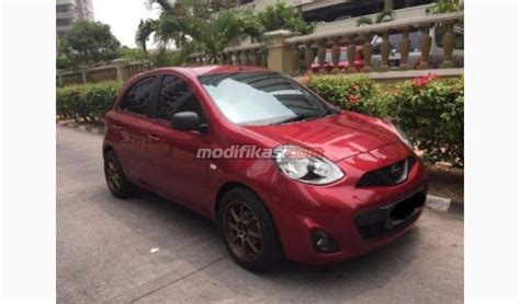 Tv Mobil Nissan March 2014 nissan march 1 2 xs a t merah modifikasi