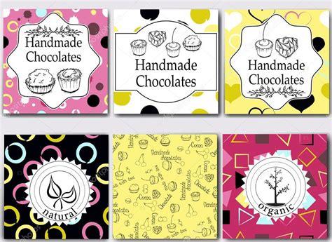 Handmade Chocolates Packaging - vectores plantillas de empaquetado de chocolates