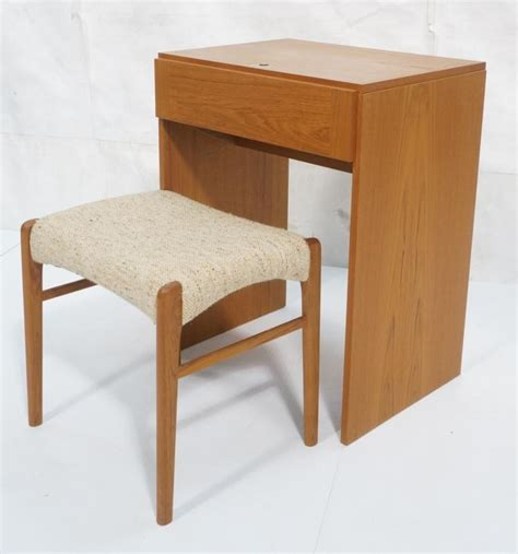 small vanity bench danish modern teak vanity and bench stool small