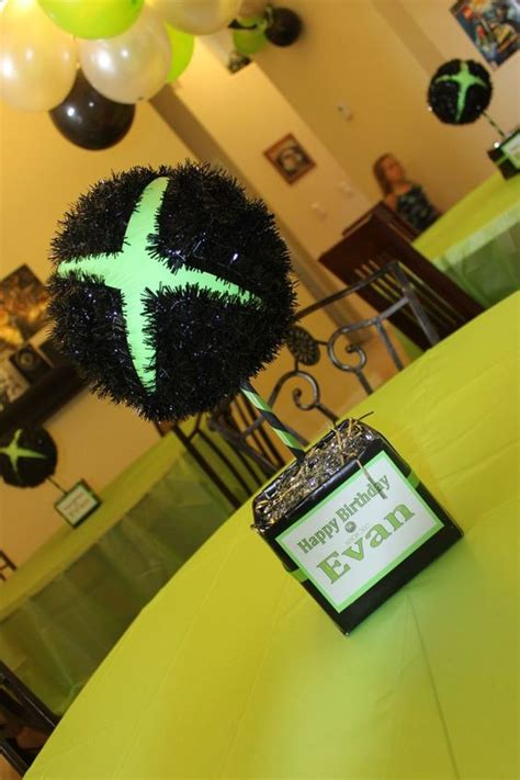 xbox 360 themed birthday party party table centerpieces birthday party tables and xbox