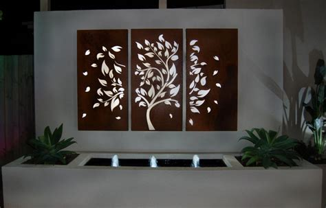 How To Decorate Using Tropical Outdoor Metal Wall Art Outdoor Garden Wall Decor