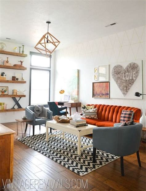 fun living room ideas 23 living rooms with bold orange sofas messagenote