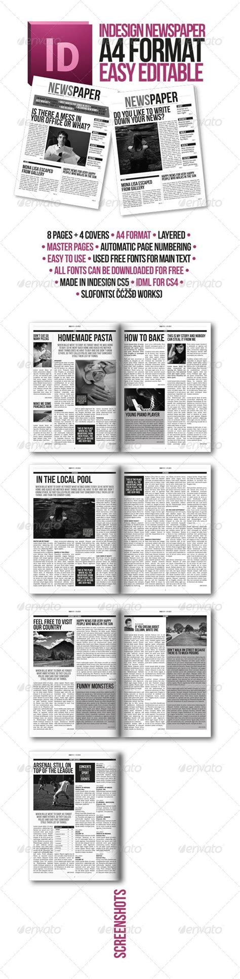 newspaper layout indesign template 25 best newspaper article template ideas on pinterest
