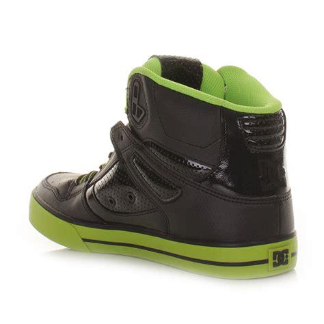 mens dc shoes spartan high wc green black skate hi top