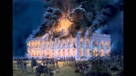 the burning of the white house white house burned war of 1812 pictures to pin on pinterest pinsdaddy