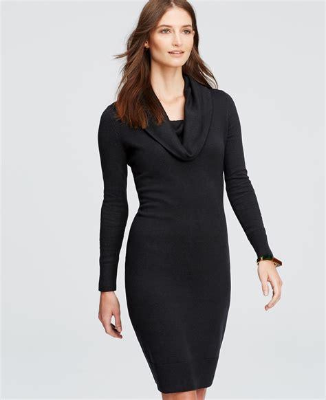 Sweater We Black cowl neck sweater dress in black lyst