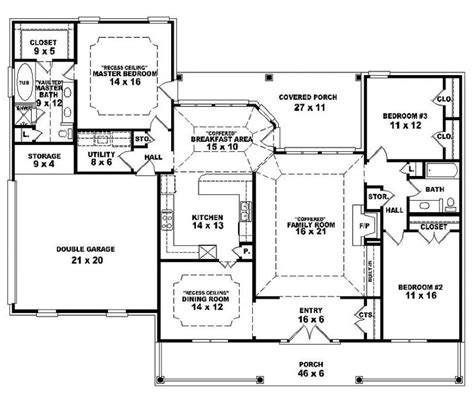 open one story house plans bedrooms mud room floor friv alfa img showing two