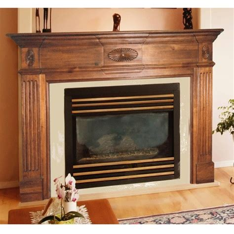 pearl mantels old hickory wood fireplace mantel surround