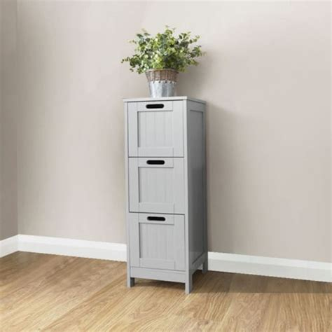 Colonial Bathroom Furniture Grey 3 Drawer Slim Chest One Stop Furniture Shop