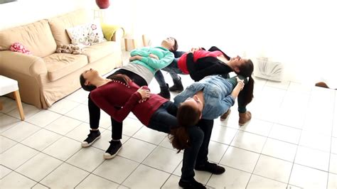 4 chair trick cool activity for your youth or