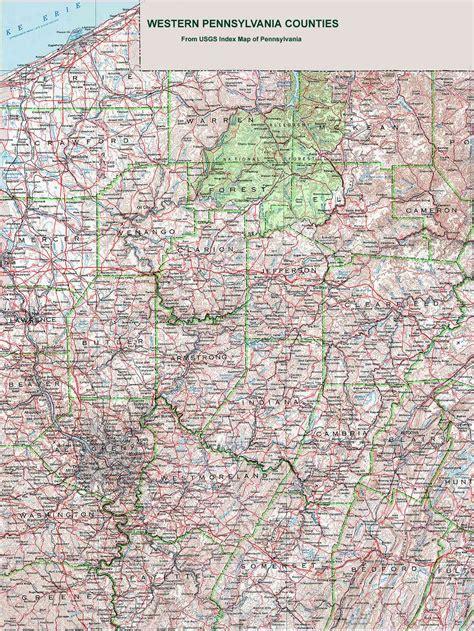 western pa map western pennsylvania counties