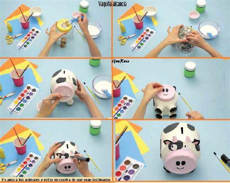 como hacer una alcancia con vasos plasticas мi мυחdo cαυtivo creativa alcancia de vaquita hecha con