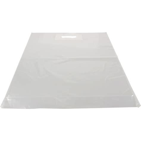 Tas Transparant tas ldpe dkt 45x56cm bodemvouw 8cm draagtas transparant 280009 neutraal draagtassen