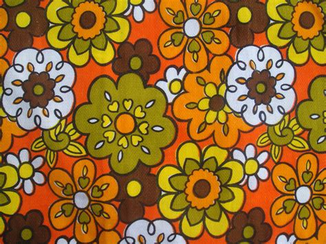 Green And Red Kitchen Ideas Orange Floral Curtain Fabric Top Screen Print Repeat