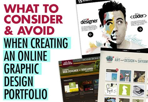 graphic design online a know how to make a graphic design portfolio unique