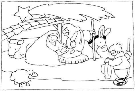 imagenes cristianas de navidad para colorear dibujos de pesebres navide 241 os para colorear belenes