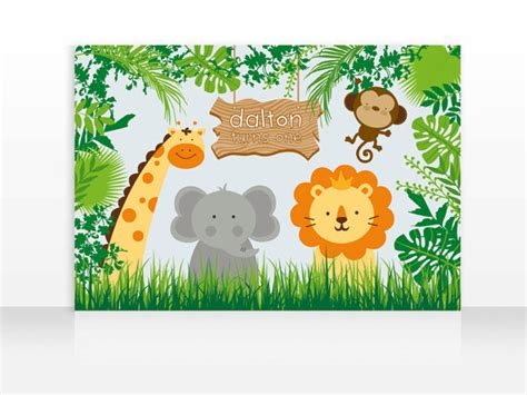 printable safari banner digital file safari jungle animals birthday printable