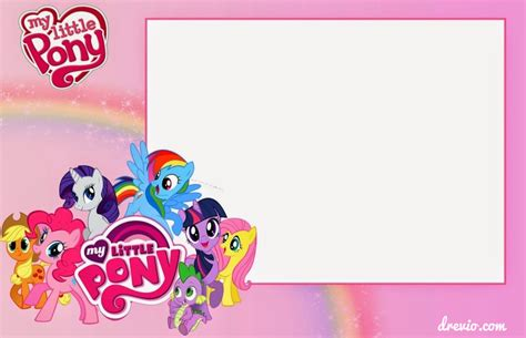 free printable horse birthday party invitations drevio free printable my little pony birthday invitation template